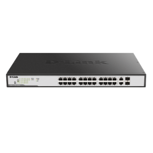 26 Port Gigabit Max PoE including 2 comb ports Smart Managed Switch   DGS 1100 26MP dlink