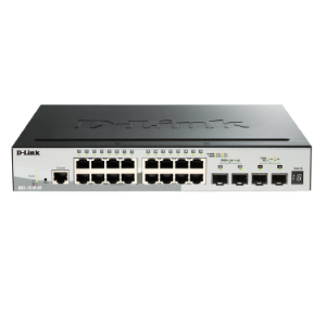 16 Port UTP + 2 Port Gigabit SFP; 2 Port 10G SFP + Rack Mountable   DGS 1510 20 dlink