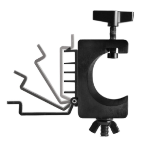 U Mount Lighting Clamp with Cable Management System (Sold By Pair)   LTA4880 on stage stands