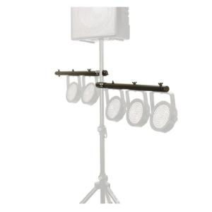 12 LED Pars Up to 6 Additional Pars U Mount Lighting Arms 29 Inches LSA7700P on stage stands