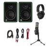 Mackie Creator Bundle 3 Inches Multimedia Monitors (Sold By Pair), USB Microphone and Headphone   Creator Bundle mackie